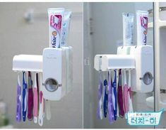 Automatic Toothpaste Dispenser & Toothbrush Holder.  Get ‪#‎online‬ here >> http://ealpha.com/home-utility/automatic-toothpaste-dispenser/8262