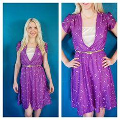 Vintage 70s Purple Disco Sun Dress by KillerStyling, $28.00
