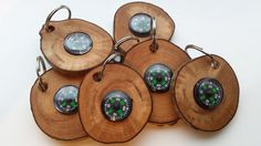 Hazel Compass Key Rings by CottageCoppicing on Etsy, £3.00