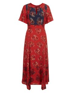 Jane Print Midi Dress- Monsoon
