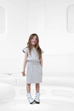 Little Remix by Charlotte Eskildsen SILVER COATED SWEATDRESS
