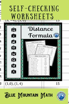 Looking for a way for students to practice using the distance formula that is self-checking? Each worksheet has 12 problems. Students will solve the first problem, look for their answer to solve the next problem. They continue until they have looped through all the problems back to problem 1. If they have a wrong answer along the way, they will know it.