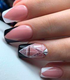 Manicure Nail Designs, Cute Acrylic Nail Designs, Short Nail Designs, Cute Acrylic Nails, Nail Manicure, Nail Art Designs, Gel Nails, Cute Pink Nails, Cute Toe Nails