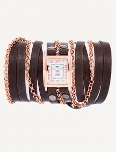 Slate-Rose Gold Clifton Wrap Watch