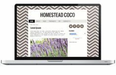 Premade Blogger Template - Coco Chevron
