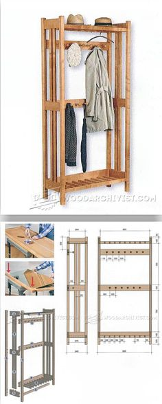 Hall Tree Plans - Furniture Plans and Projects | WoodArchivist.com