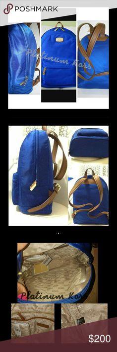 New Michael Kors Large Blue back bag $298 original New Michael Kors backpack or traveling bag . $298 originally- bundle up and save Michael Kors Bags Backpacks