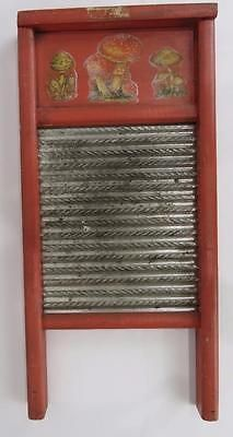 Vintage-Washboard-17-75-034-x8-5-034-Rustic-Tin-Primitive-Laundry-Room-Decor-Mushrooms