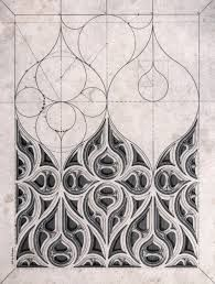 Bildresultat för drawing gothic tracery
