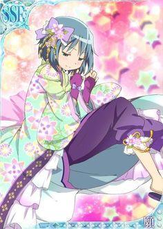 Sayaka - Madoka Magica Mobage Cards 〖 Puella Magi Madoka Magica Mahou Shoujo Maho Shojo Sayaka Miki pretty colorful 〗