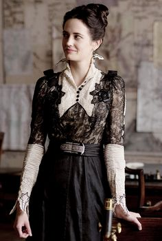 "Eva Green in "" Penny Dreadful ""/ TvSeries /Confessions of a Vintage Hoarder by Leah Loverich Steampunk Fashion, Victorian Fashion, Triquetra, Eva Green Penny Dreadful, Actress Eva Green, 20th Century Fashion, Arizona Robbins, College Fashion, Dark Fashion"