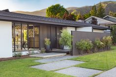 John Andre Gougeon, A.I.A., 1963; Antonio Aguilar, Landscape Designer. From the street, Gougeon's board and batten, stucco-clad adaptation of the region's popular ranch-style home yields an aesthet…