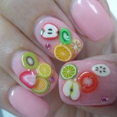 Fruit nails are so cute!