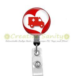 Retractable Badge ID Reel Emergency Medical by CreativeSanity, $7.50