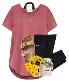 A fashion look from August 2017 featuring Hollister Co. bras, Birkenstock sandals and Kate Spade bracelets. Browse and shop related looks. Lazy Day Outfits, Other Outfits, Sporty Outfits, Simple Outfits, Outfits For Teens, Stylish Outfits, Summer Outfits, Cute Outfits, School Outfits
