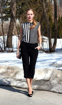 How to Wear Black and White Stripes | 29secrets  - Natalie Ast