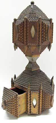 Victorian tramp art jewelry box.  I love this.