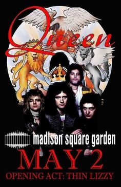 Tour Posters, Band Posters, Music Posters, Event Posters, Freddie Mercury, Queen Poster, Vintage Concert Posters, Concert Flyer, We Will Rock You