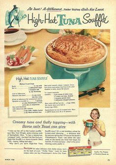 tuna souffle by Millie Motts, via Flickr...I have never eaten anything like this, but I cannot resist the page layout!