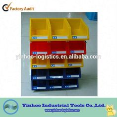 recycled plastic stackable storage bins drawers with all sizes alibaba China