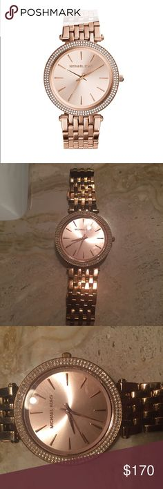 Darci rose gold watch Well loved with some scratches on the band but not very noticeable. In good condition. MICHAEL Michael Kors Accessories Watches