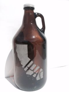 California IPA Beer Growler 64oz  Laser by TolsenAndTimber on Etsy