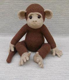 Ravelry: Baby Monkey pattern by Lorraine Pistorio Animal Knitting Patterns, Crochet Toys Patterns, Stuffed Animal Patterns, Amigurumi Patterns, Knitting For Kids, Knitting Projects, Crochet Projects, Monkey Pattern, Knitted Animals
