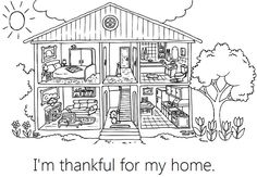 Lesson 31 I Am Thankful For My Home Printable Coloring PagesHouse