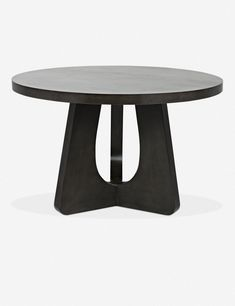A striking statement piece, this dining table features a beautifully sculpted design, adding unique form to a room. The brushed black finish makes it modern, while the rounded top gives it softer appeal. Black Dining Room Table, Round Pedestal Dining Table, Modern Dining Table, Dining Table In Kitchen, Kitchen Banquette, Dining Tables, Beautiful Dining Rooms, Machine Made Rugs, Unique Furniture