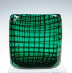 Hadeland Norwegian Glass Vase, H. Bongard 1955 : Lot 147