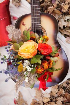 Resultado de imagem para musica com flores