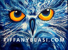 The Night Owl acrylic painting by Tiffany Beasi by TiffanyBeasiArt, $499.00