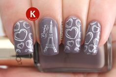 Stamping over L'Oréal Parisian Rooftops using Barry M Foil Effects Silver and Bundle Monster plates BM-317 and BM-419