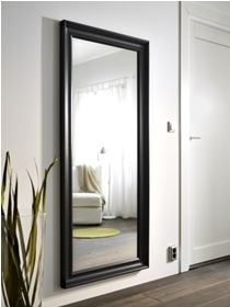 HEMNES Mirror - black-brown - IKEA for above matching dresser Ikea Hemnes Mirror, Ikea Mirror, Closet Mirror, Big Mirror In Bedroom, Grey Stain, Unique Furniture, Small Rooms, Room Colors, New Room