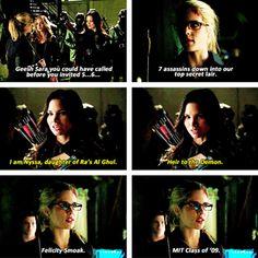 Arrow - Sara, Felicity & Nyssa al Ghul #2.23 #Season2
