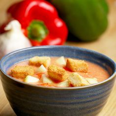 Healthy Homemade Gazpacho Recipe by Tasty Vegan Coffee Cakes, Passover Desserts, Fancy Dinner Recipes, Veggie Fries, Seafood Recipes, Basil Recipes, Snacks Recipes, Salad Dressing Recipes, Easy Weeknight Meals