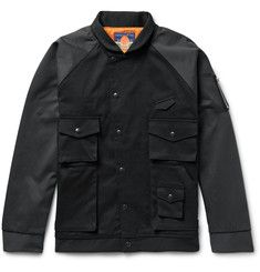 Blackmeans Two-Tone Cotton-Twill Bomber Jacket