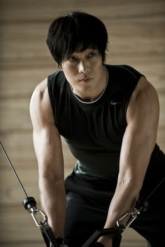 so ji sub ~ I'd go more often to the gym if he was there!