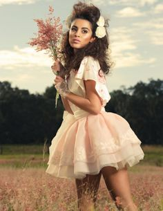 Blush pink organza skirt