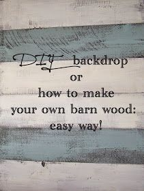 Redoem: DIY backdrop or how to make barn wood