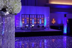 Beautiful wedding reception with our LED dance floor!!