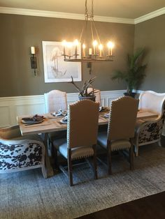 rustic dining room parade of homes 2015