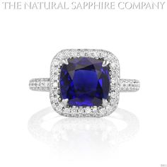 Natural Untreated Blue Sapphire Engagement Ring J2611--for a friend