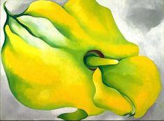 Georgia O'Keeffe  Yellow Calla