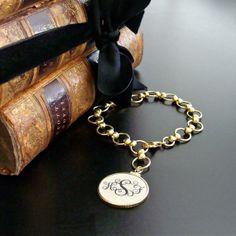 Monogrammed Ivory bracelet by Karen Sugarman