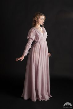 """Items similar to Light Chemise """"Found Princess""""; Colored Chemise on Etsy Medieval Dress, Medieval Clothing, Historical Clothing, Gypsy Clothing, Fantasy Gowns, Princess Coloring, Pretty Dresses, Night Gown, Vintage Fashion"""