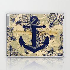Anchor Art III Laptop & iPad Skin by studio VII - http://society6.com/vivinicolin/Anchor-Art-III_Laptop-Skin