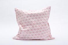 Geometric Designer Triangels Printed Throw Pillow Cover, Design, Mikabarr, Art Urbane