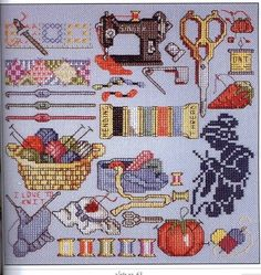 Cross-stitch Sewing/Crafting Things.. following links are for the color chart & pattern...  Color Chart..  http://elypetrova.gallery.ru/watch?ph=GV5-bBPqr   ..Pattern..  http://elypetrova.gallery.ru/watch?ph=GV5-bBPqq