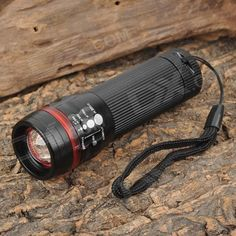 ForestTiger SLH-H606 3W LED 200lm 3-Mode White Light Zooming Flashlight - Black + Red (3 x AAA). Brand: ForestTiger Model: SLH-H606 Material: Aluminum alloy LED Type: 3W LED Color: Cool white Number of Emitters: 1 Voltage Input: 3.6~4.5V Battery Configuration: 3 x AAA (not included) Circuitry: N/A Brightness: 200lm Runtime: 1~4 hours Number of Modes: 3 Mode Arrangement: Hi > Lo > Fast strobe Mode Memory: No Switch Type: Reverse clicky Switch Location: Tailcap Lens: Plastic convex lens…